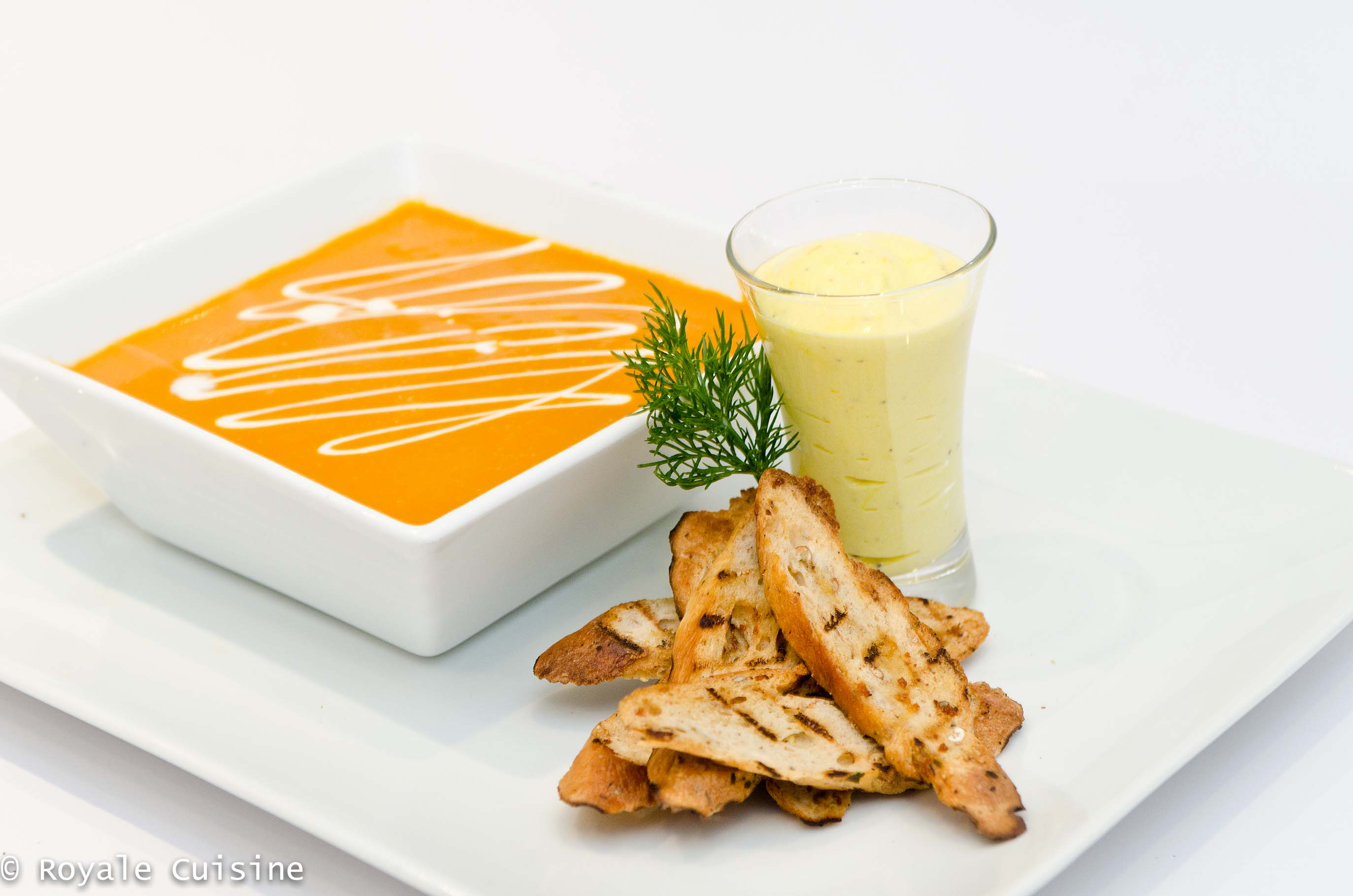 Provencal Seafood Bisque served with Saffron Mayonnaise & Toasted ...