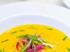 Chilled Pumpkin Soup with Shredded Pickled Vegetables