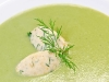 Pea Soup with Quenels of Chick Pea Mousse